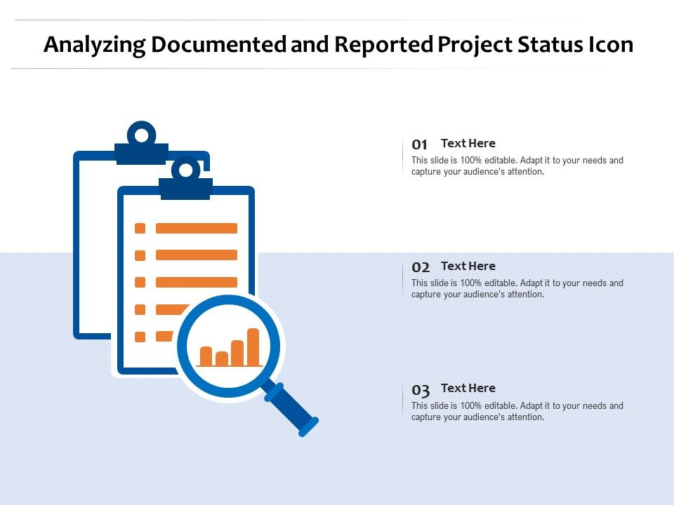Analyzing Documented And Reported Project Status Icon