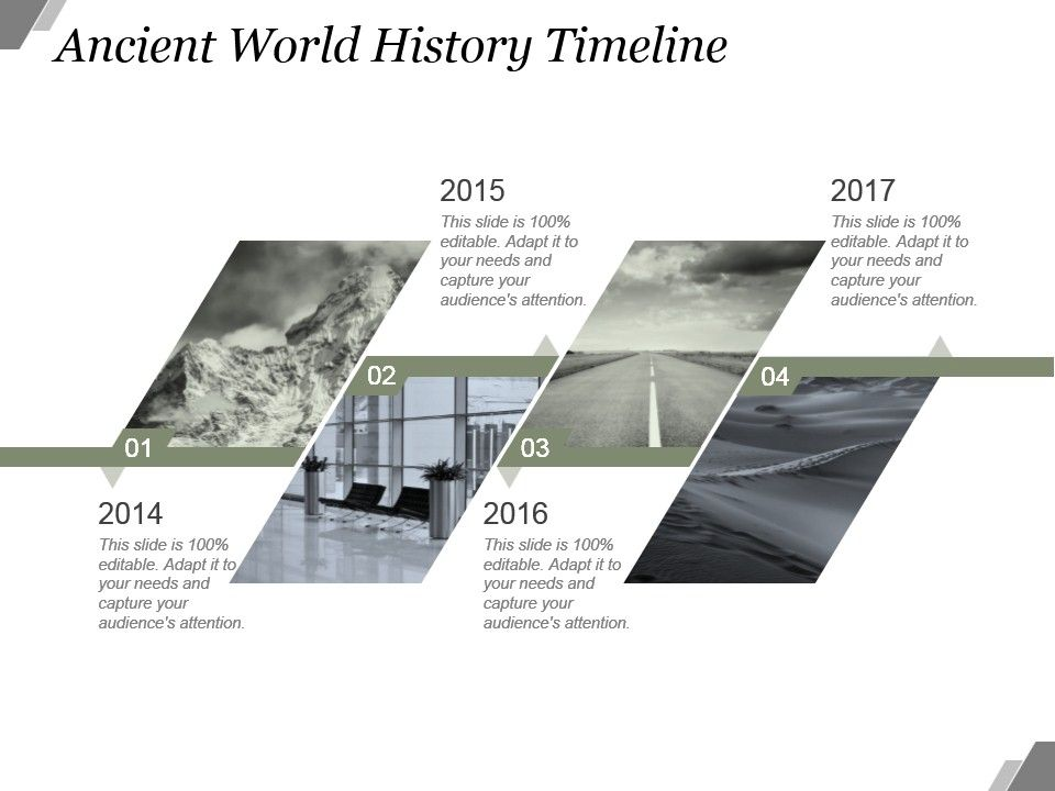 Ancient World History Timeline Sample Of Ppt  Powerpoint Templates