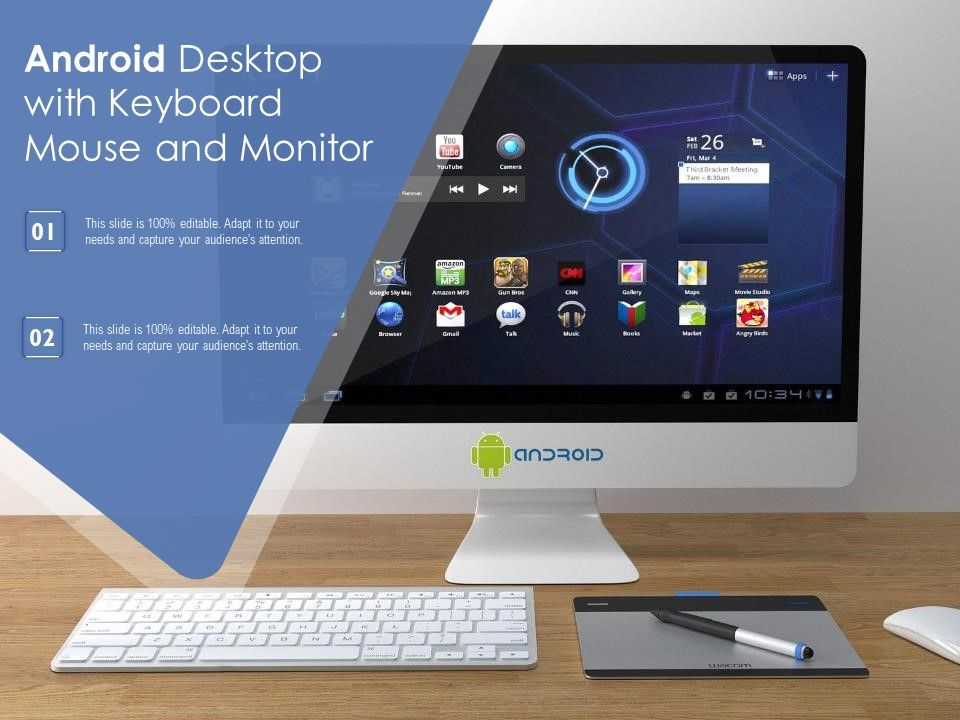 Android Desktop With Keyboard Mouse And Monitor