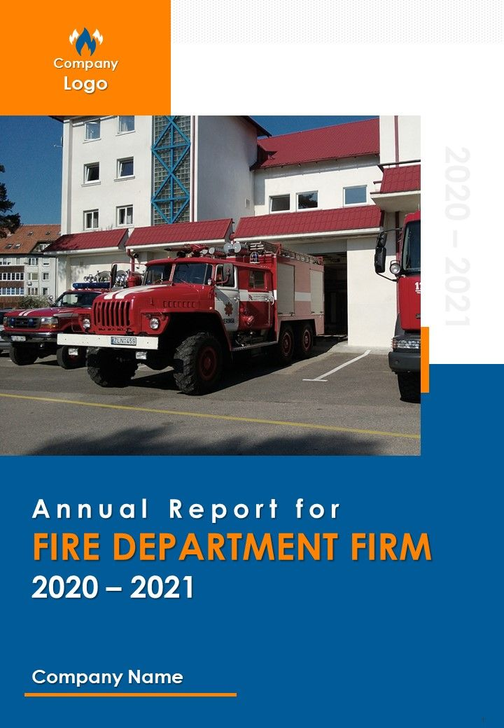 Annual Report For Fire Department Firm PDF DOC PPT Document Report Template