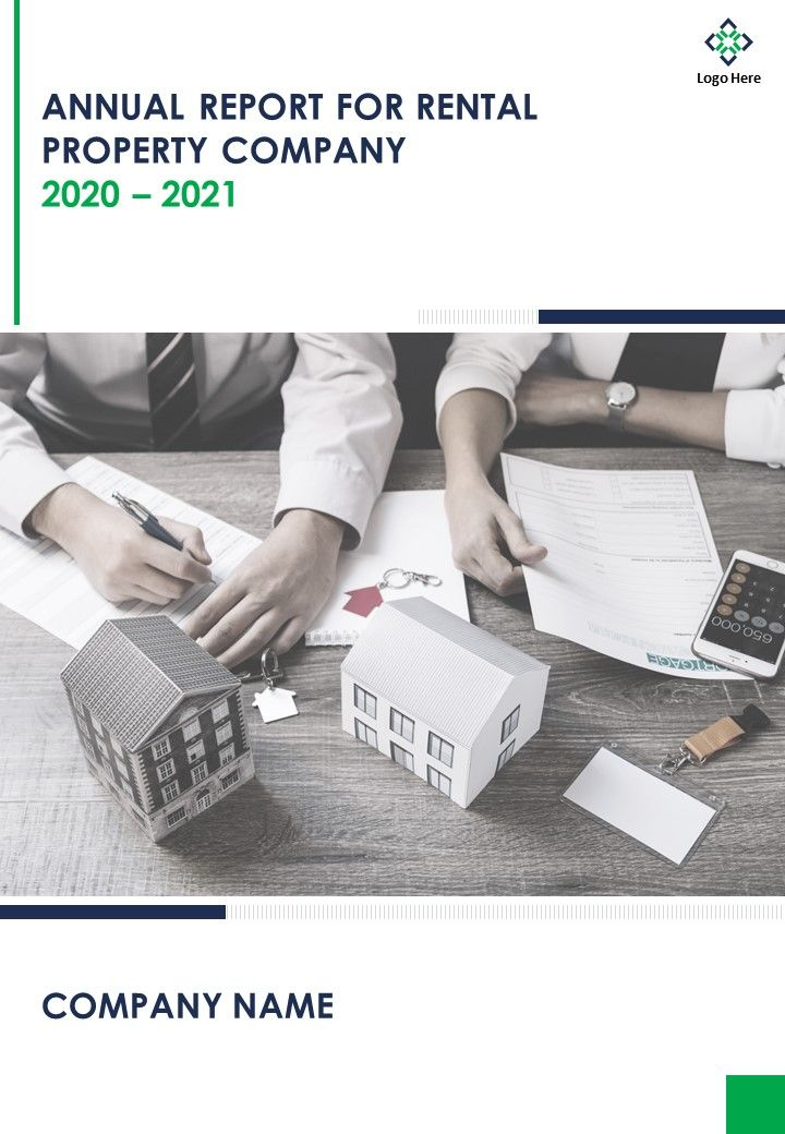 Annual Report For Rental Property Company PDF DOC PPT Document Report Template