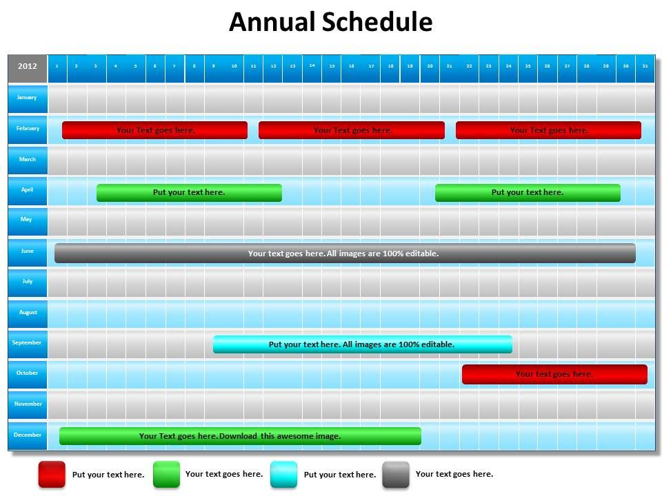 Annual schedule shown by gantt chart powerpoint diagram templates annualscheduleshownbyganttchartpowerpointdiagramtemplatesgraphics712slide01 toneelgroepblik Gallery