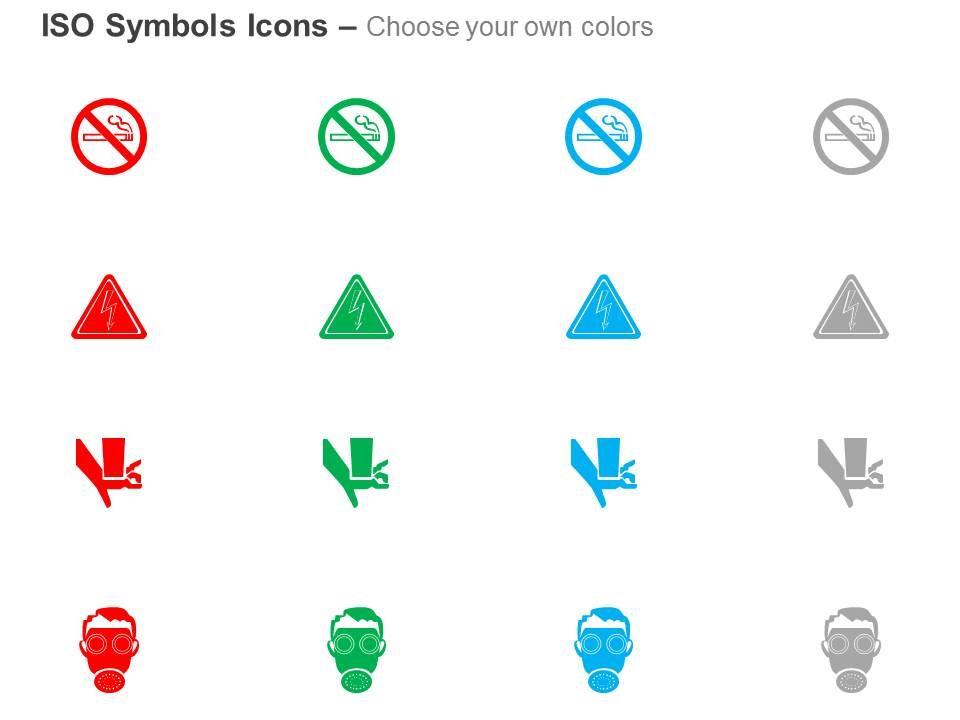 Ansi Iso Semi Hazard Mandatory Action Prohibition Symbols Iso Icons