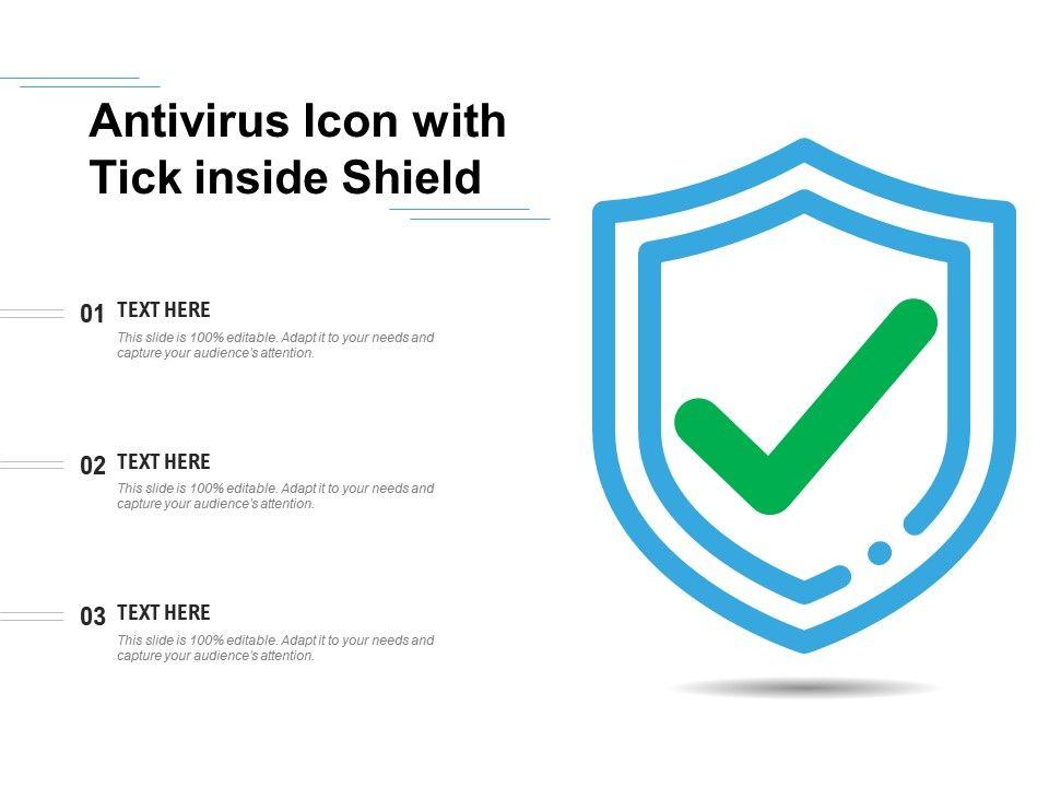 Antivirus Icon With Tick Inside Shield