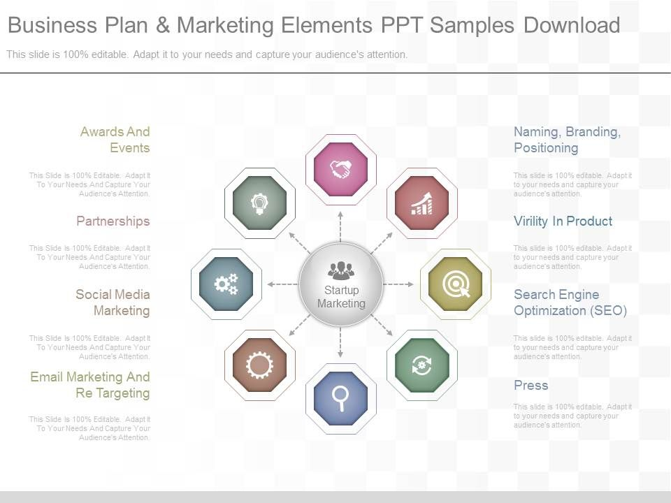 App Business Plan And Marketing Elements Ppt Samples Download - Business plan template for app
