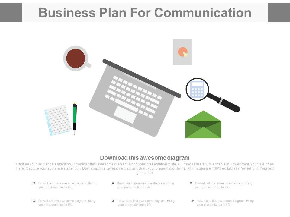 App Business Plan For Communication Flat Powerpoint Design - Business plan design template