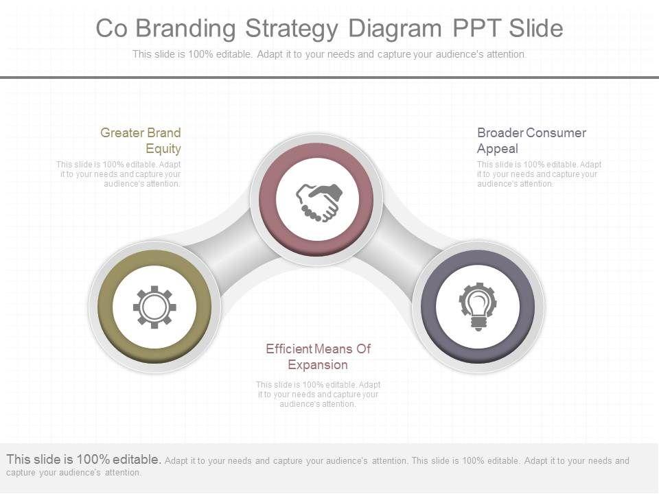 app co branding strategy diagram ppt slide