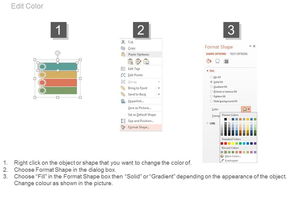 app Four Staged Tags For Process Control Flat Powerpoint