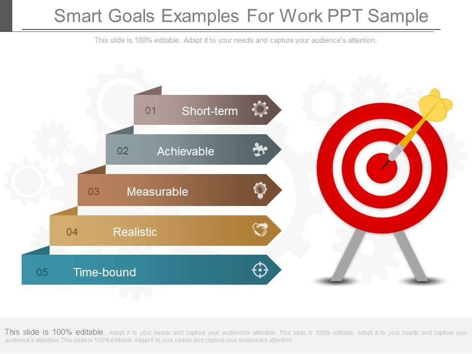 goals for work examples