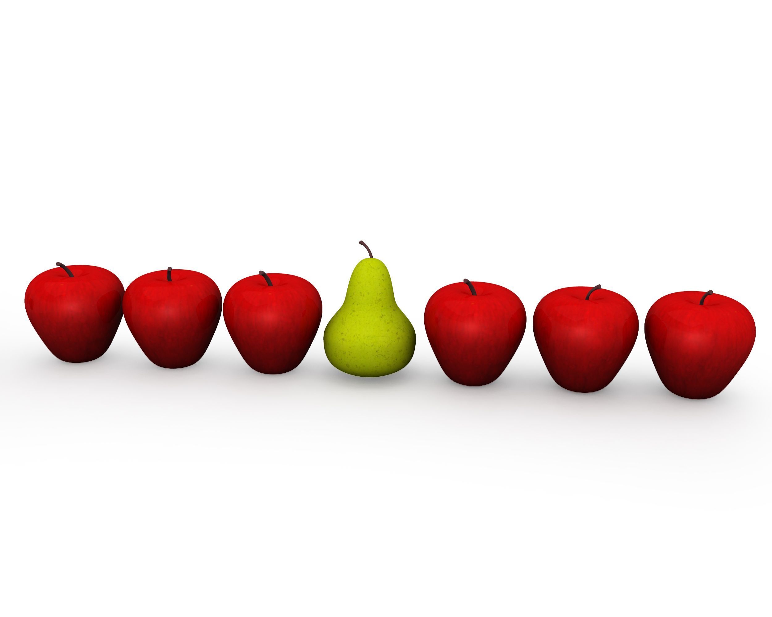apples_in_queue_with_one_pear_shows_leadership_stock_photo_Slide01