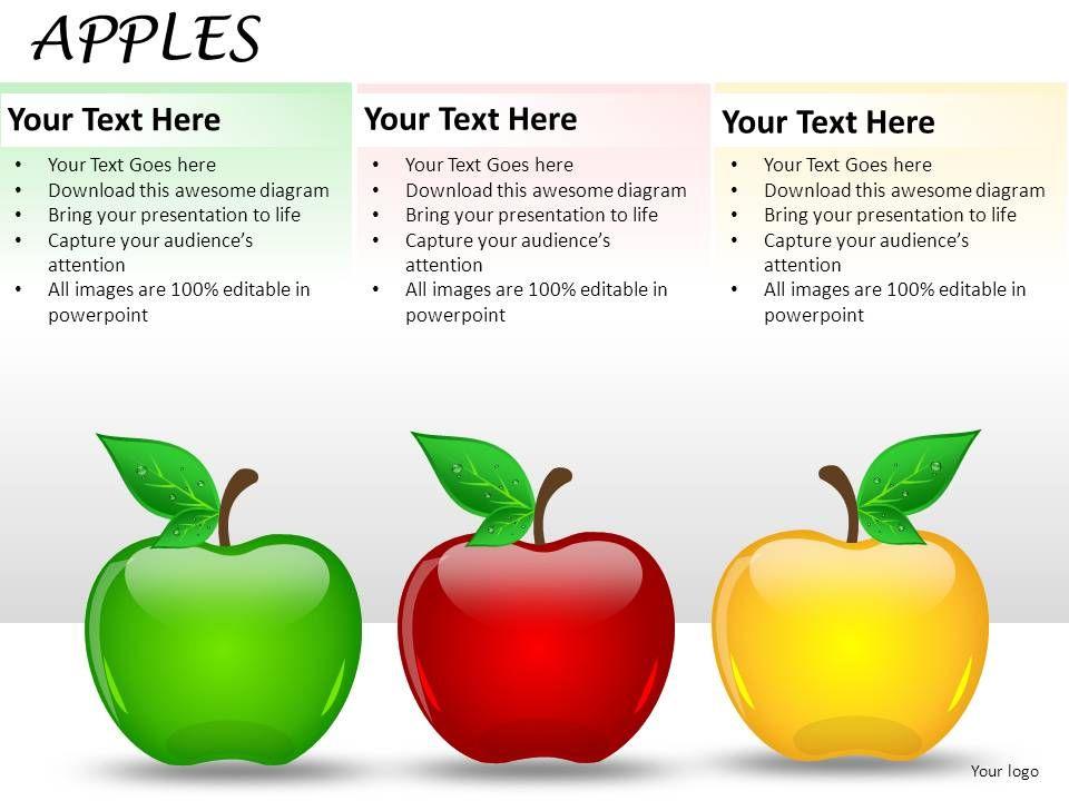 apples powerpoint presentation slides   powerpoint presentation, Presentation templates