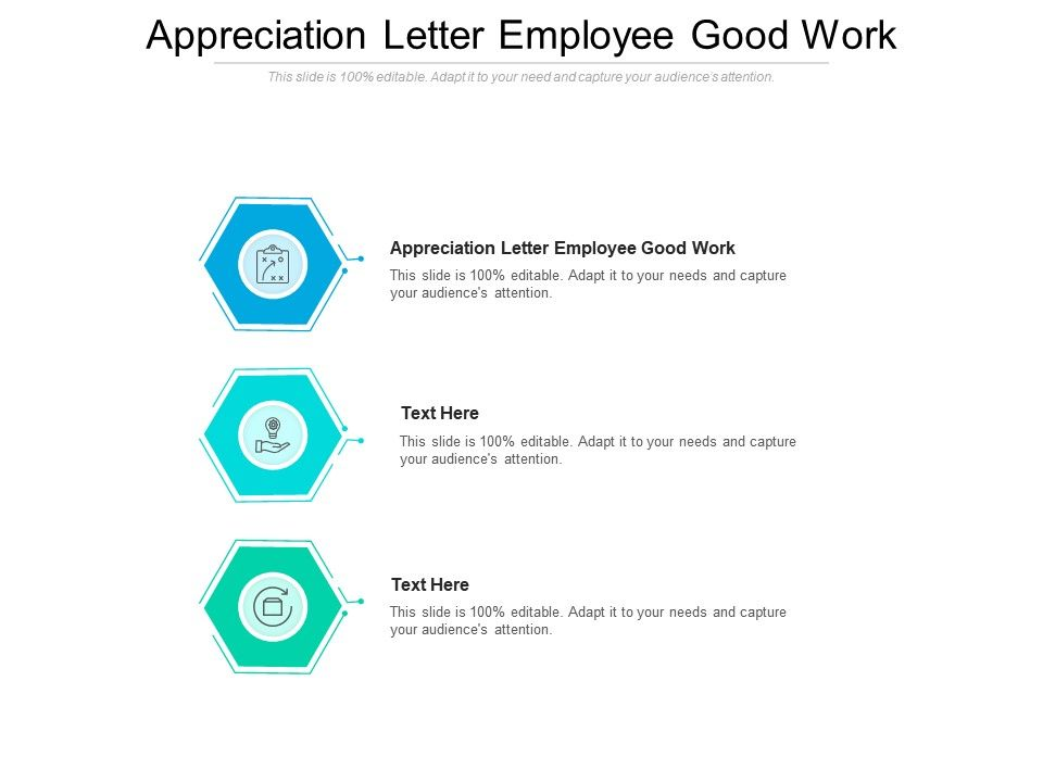 Appreciation Letter Employee Good Work Ppt Powerpoint Presentation Visual Aids Slides Cpb