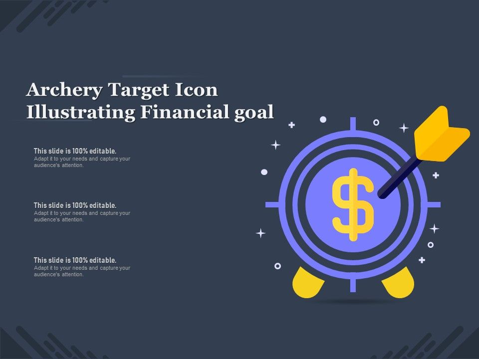 Archery Target Icon Illustrating Financial Goal