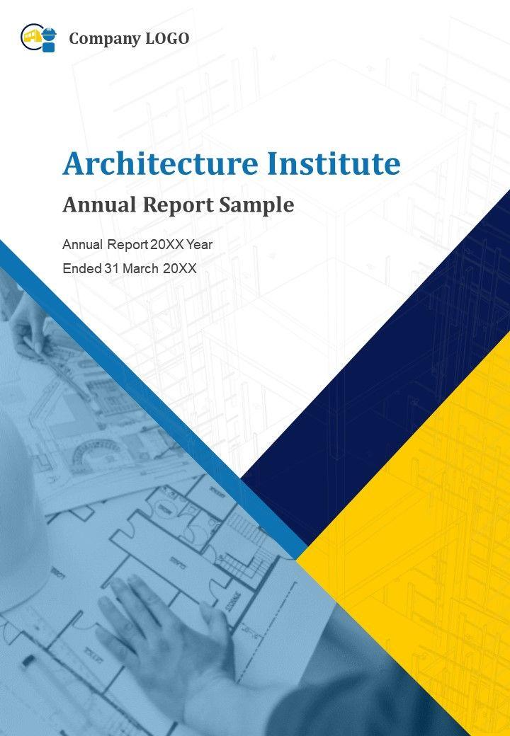 Architecture Institute Annual Report Sample PDF DOC PPT Document Report Template