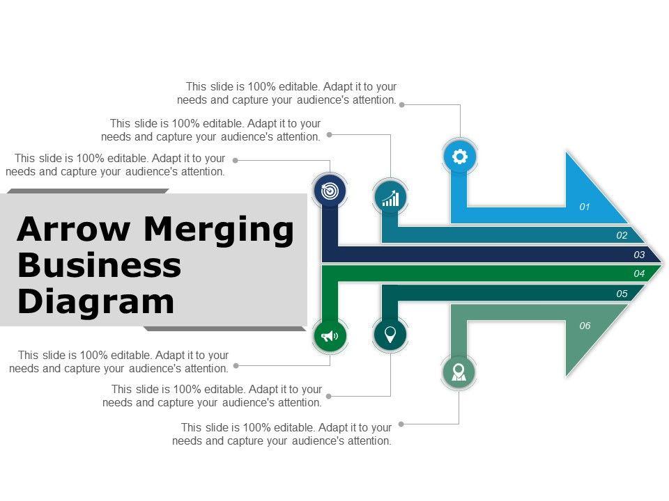 arrow_merging__business_diagram_powerpoint_guide_Slide01