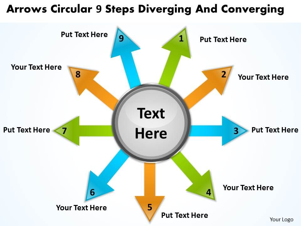 arrows_circular_9_steps_diverging_and_converging_processs_powerpoint_templates_Slide01