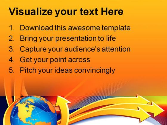 Arrows Symbol PowerPoint Template 0510  Presentation Themes and Graphics Slide02