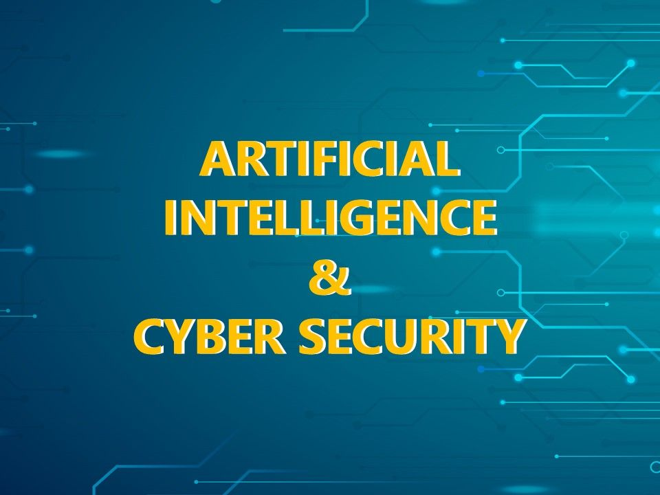 Artificial Intelligence And Cyber Security Cover Slide