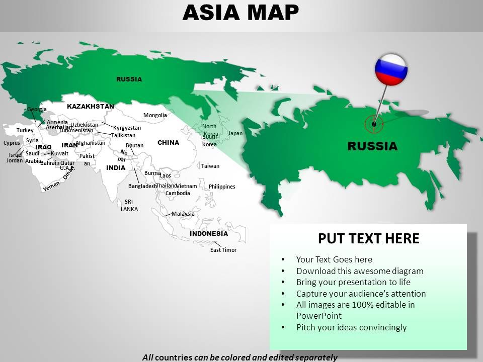 Asia Continents Powerpoint Maps Slide - What continent is syria in