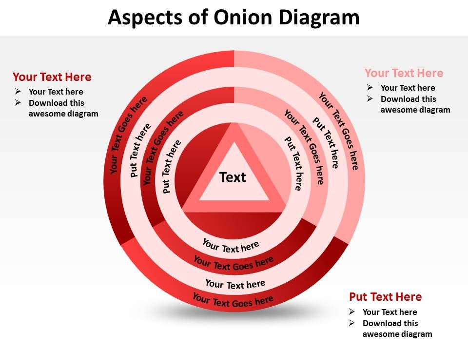 Aspects of onion diagram shown by concentric circles and triangle aspectsofoniondiagramshownbyconcentriccirclesandtrianglepowerpointtemplates0712slide01 ccuart Gallery