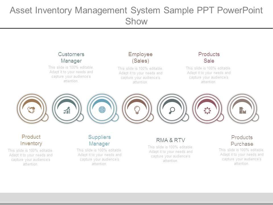 71118678 style linear single 7 piece powerpoint presentation diagram assetinventorymanagementsystemsamplepptpowerpointshowslide01 assetinventorymanagementsystemsamplepptpowerpointshowslide02 ccuart Choice Image