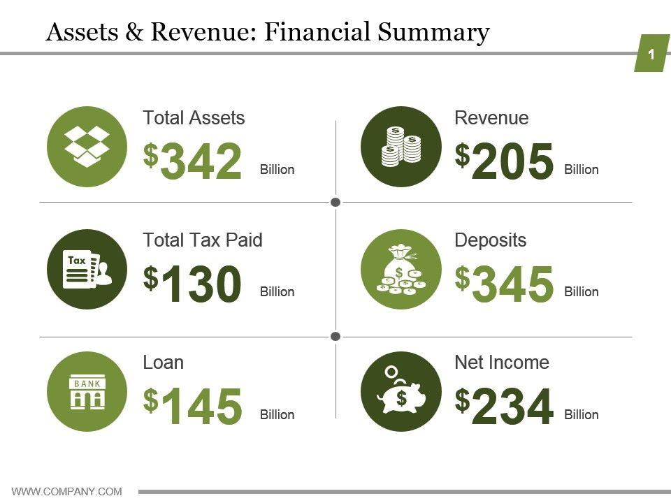 assets_and_revenue_financial_summary_powerpoint_graphics_Slide01