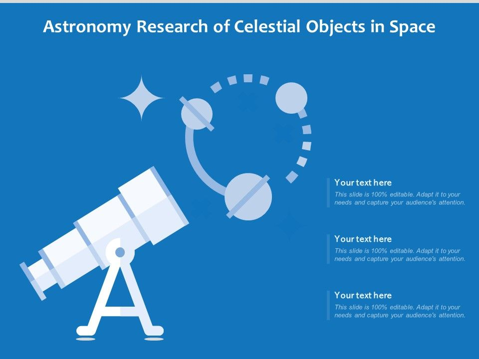Astronomy Research Of Celestial Objects In Space