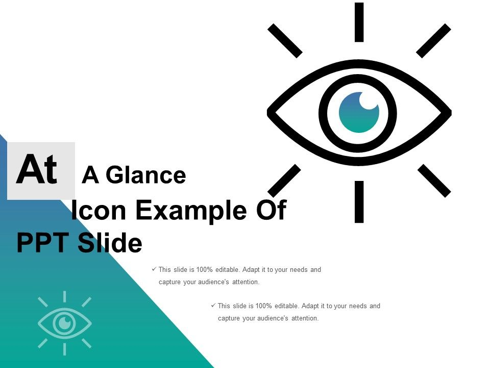 at a glance icon example of ppt powerpoint templates download