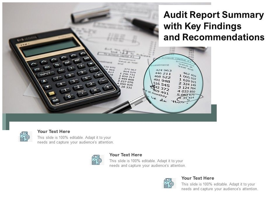 Audit Report Summary With Key Findings And Recommendations