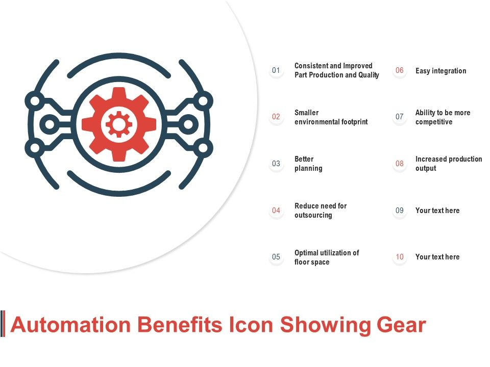 Automation Benefits Icon Showing Gear
