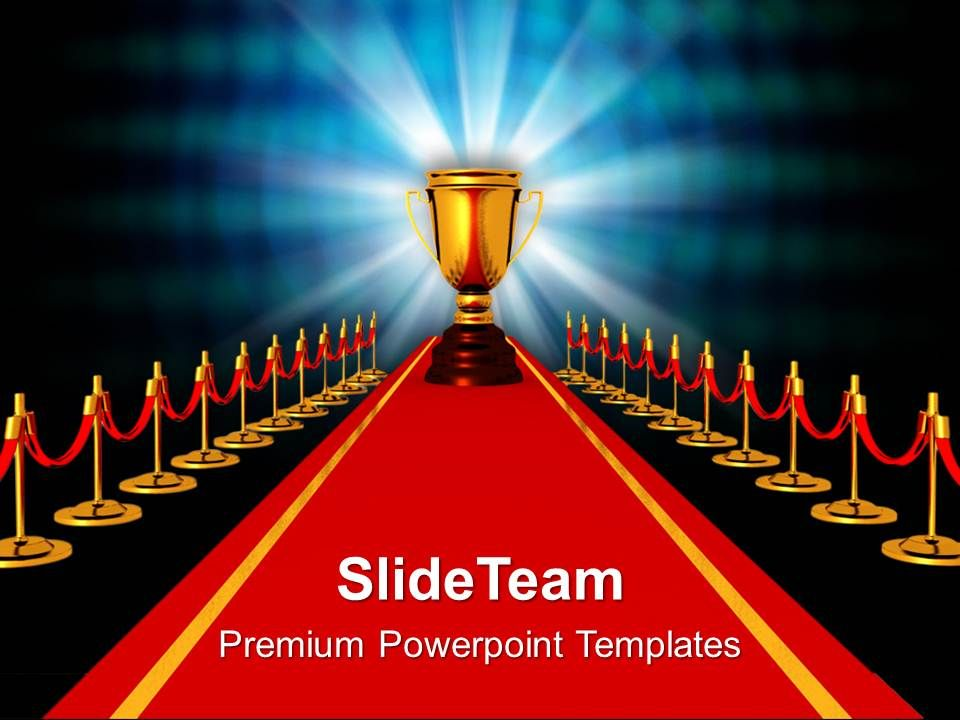 award on red carpet competiton powerpoint templates ppt themes and graphics 0113