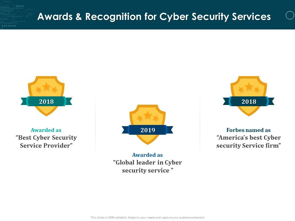Awards And Recognition For Cyber Security Services Ppt Powerpoint Presentation