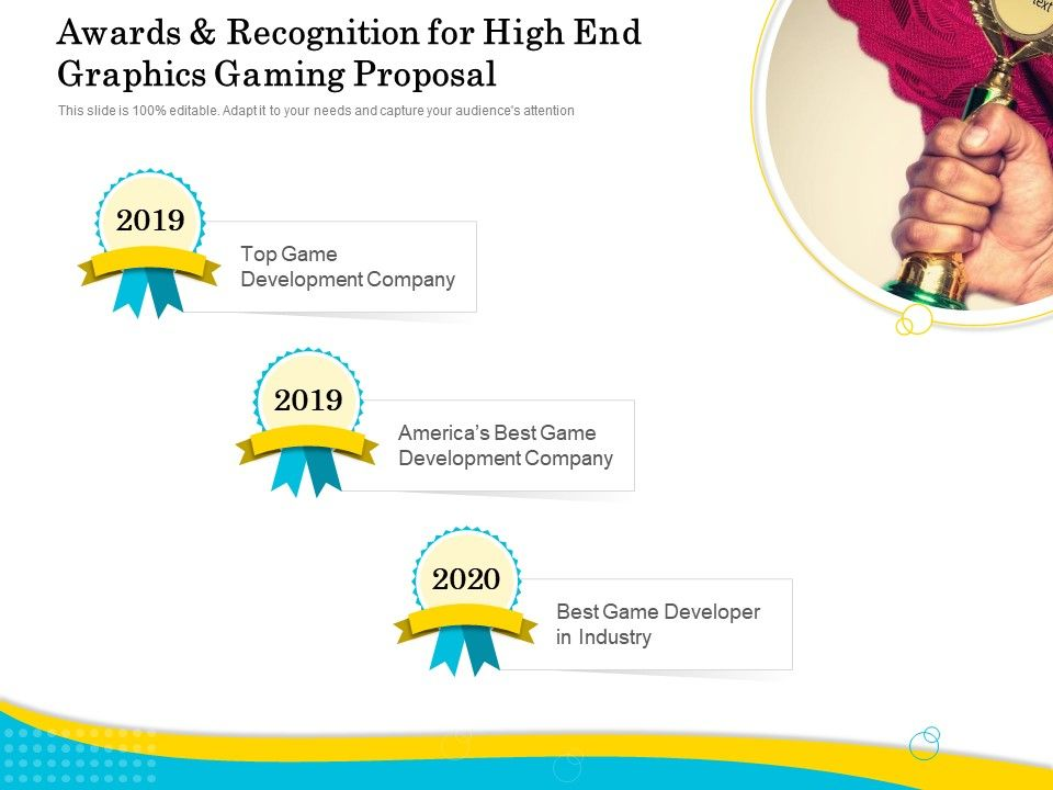 Awards And Recognition For High End Graphics Gaming Proposal Ppt Ideas