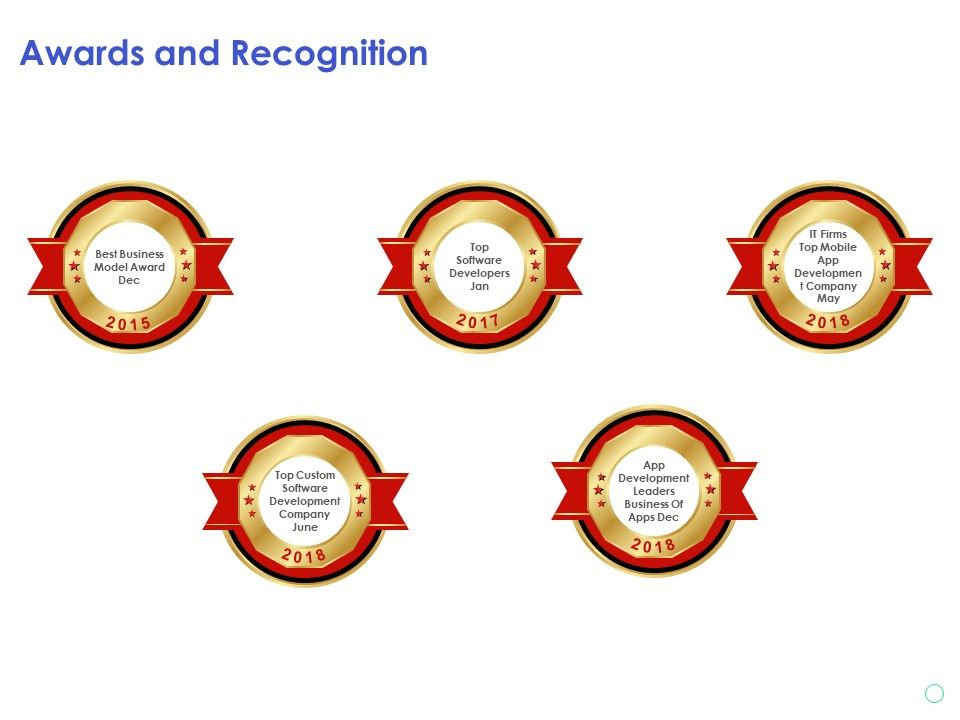 Awards And Recognition Software Development Company Ppt Powerpoint Presentation Good