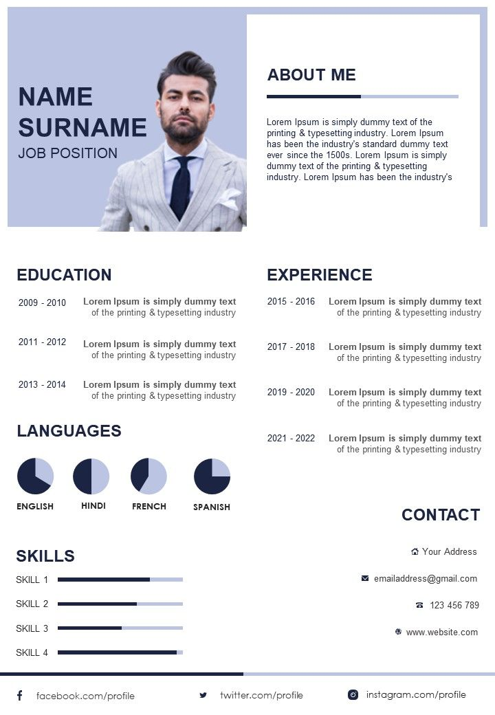 Awesome Infographic Resume Design To Introduce Yourself