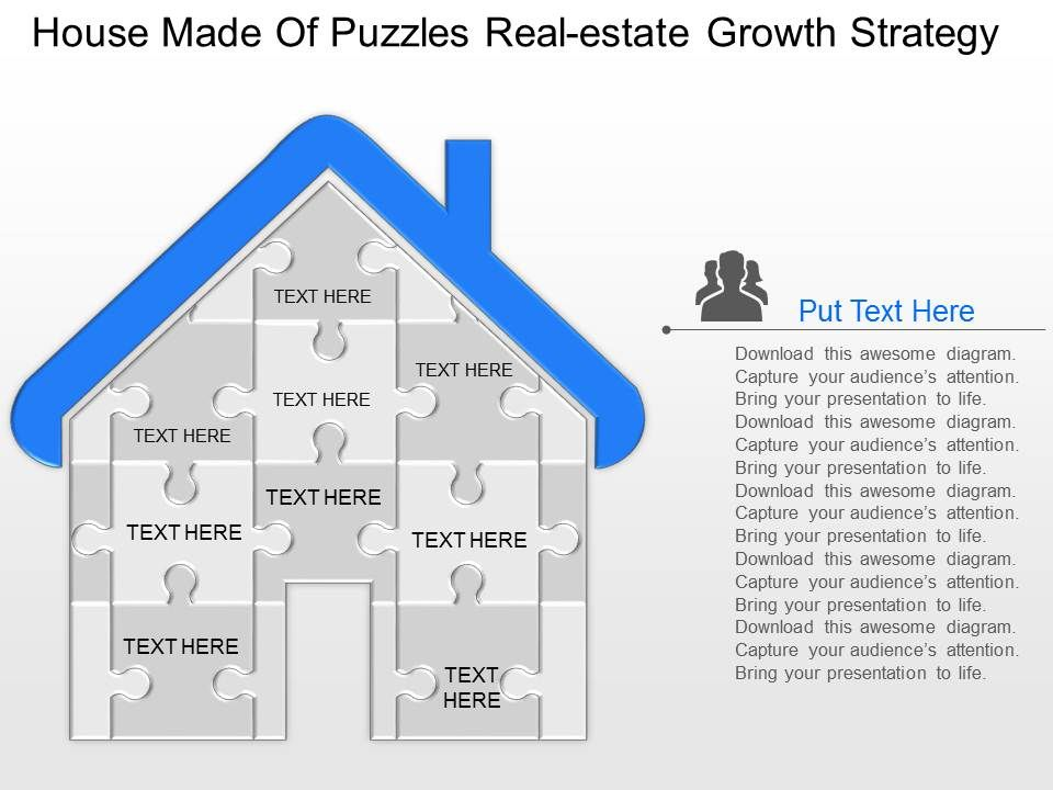 ay house made of puzzles realestate growth strategy powerpoint