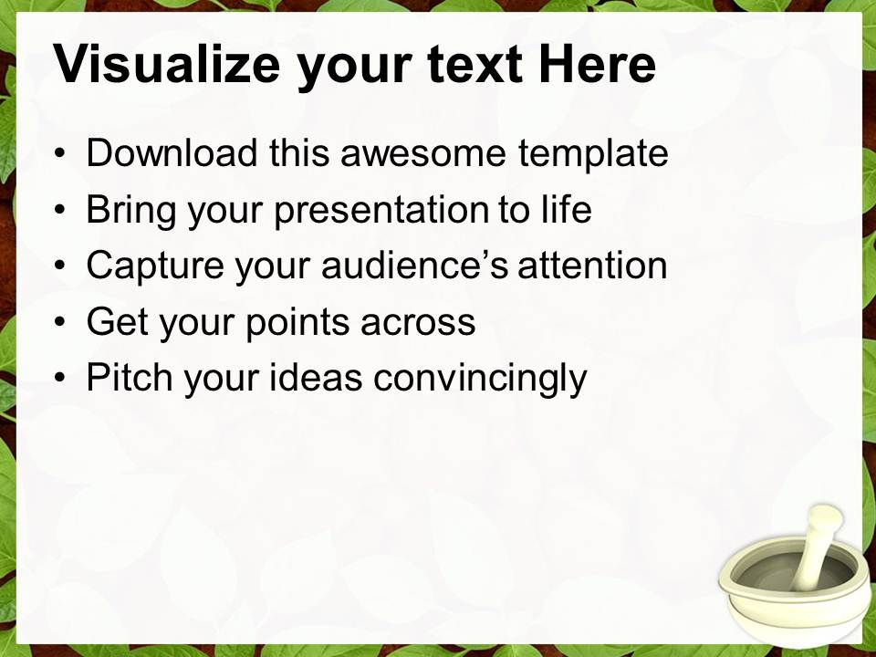 ayurvedic medicine maker powerpoint templates ppt themes and