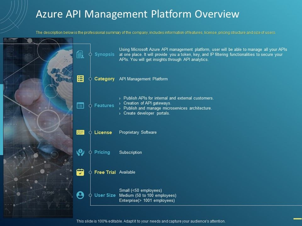 Azure API Management Platform Overview Ppt Powerpoint Presentation Topics