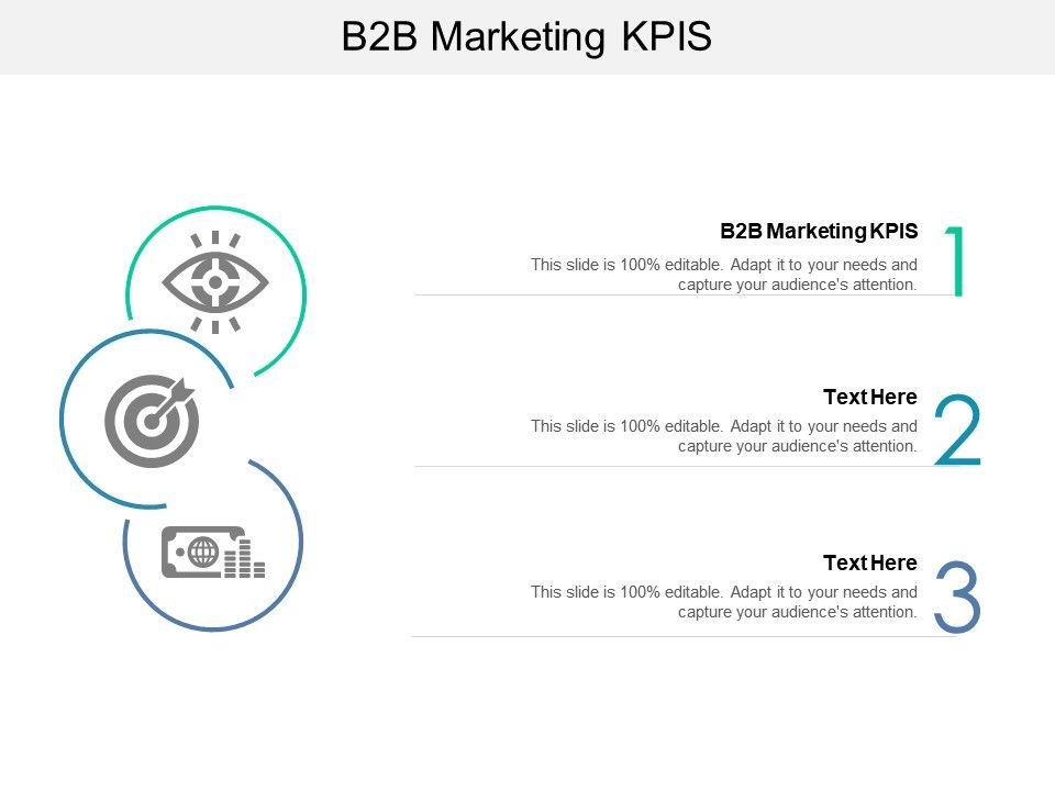 B2B Marketing KPIS Ppt Powerpoint Presentation Slides Themes Cpb