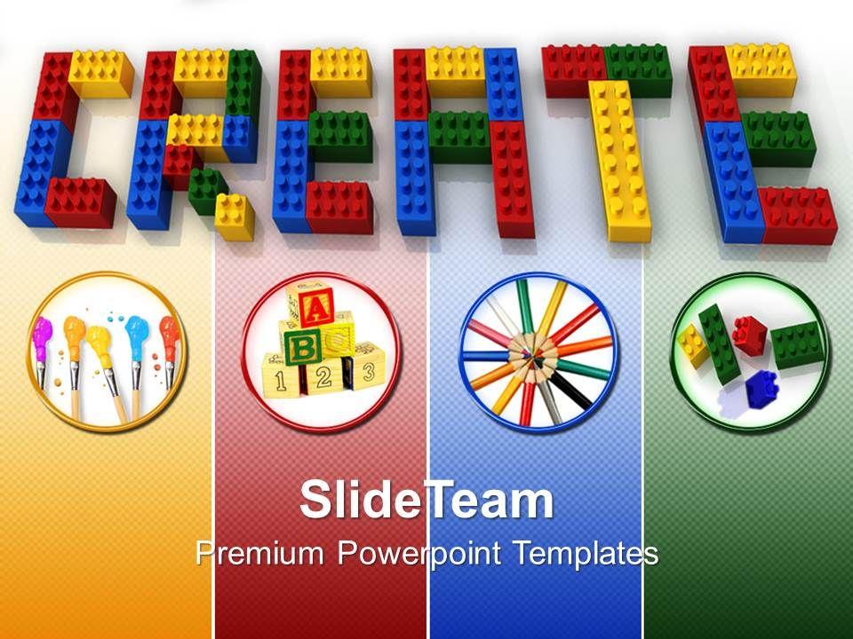 Baby Building Blocks Powerpoint Templates Create Word Lego