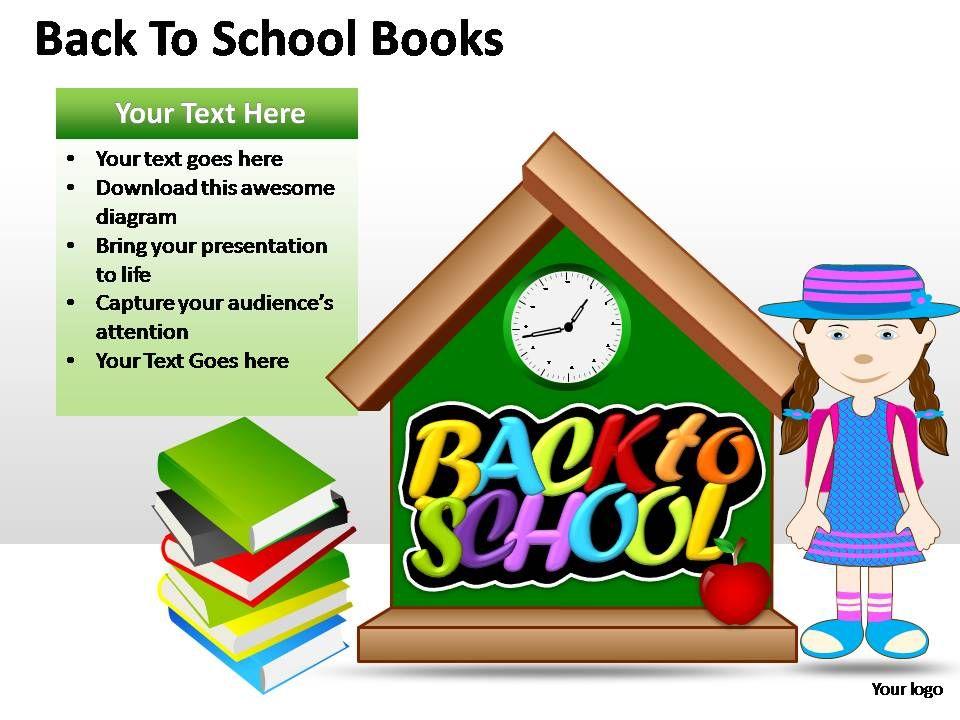 Back To School Books Powerpoint Presentation Slides