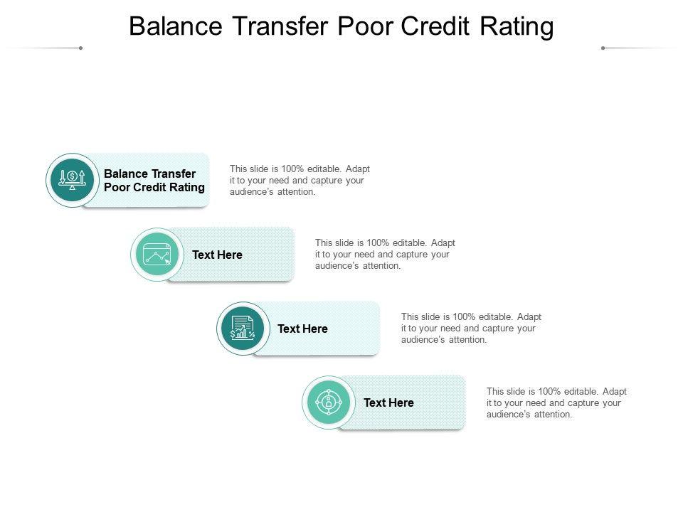 Balance Transfer Poor Credit Rating Ppt Presentation Infographics Show Cpb