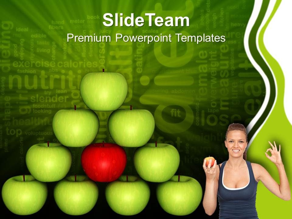 balancing_diet_green_apple_isolated_health_powerpoint_templates_ppt_themes_and_graphics_0213_Slide01