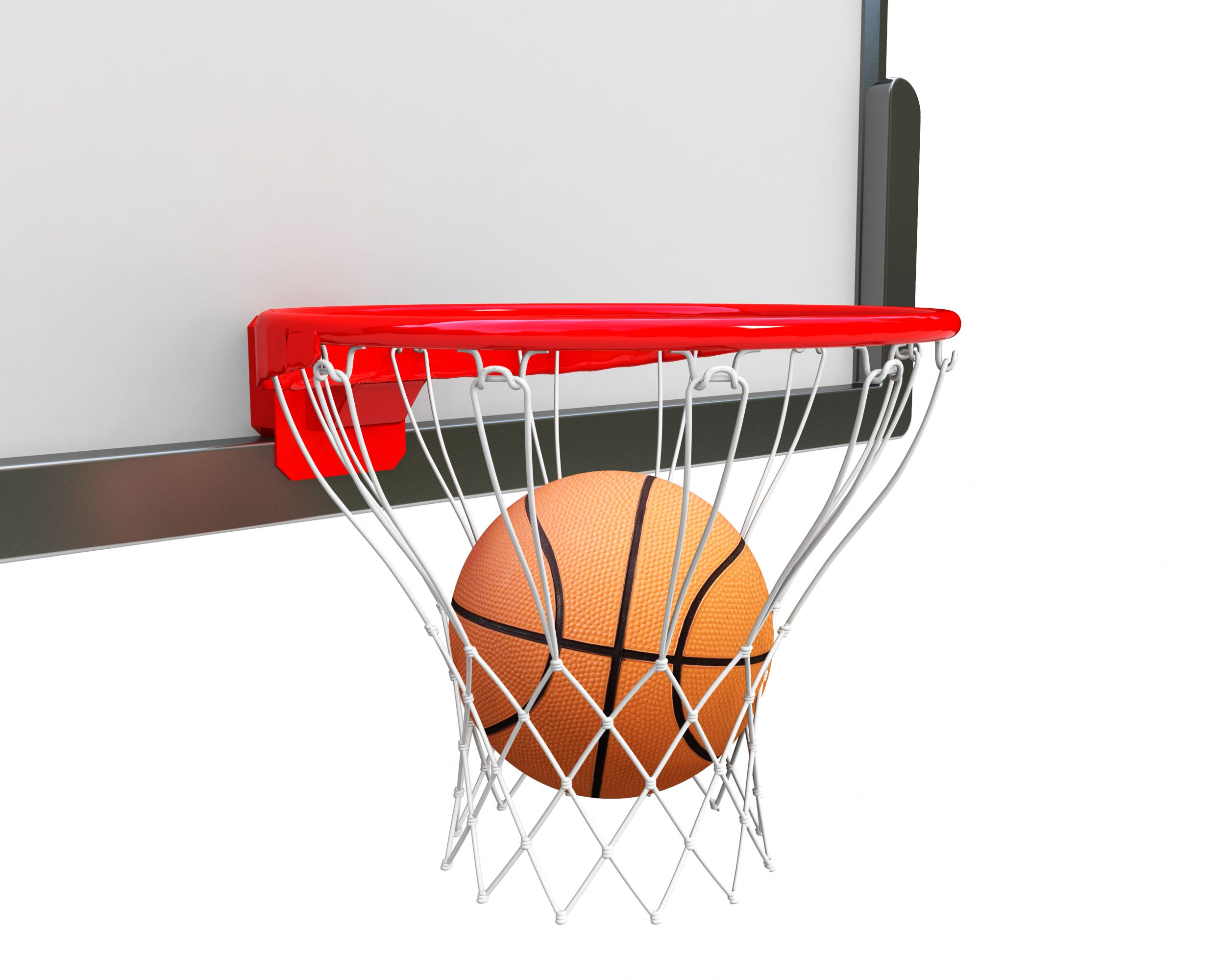 Ball Inside Ring For Basketball Game Stock Photo Templates Powerpoint Slides Ppt Presentation Backgrounds Backgrounds Presentation Themes