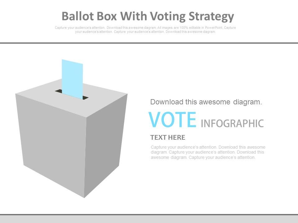 ballot box with voting strategy flat powerpoint design powerpoint