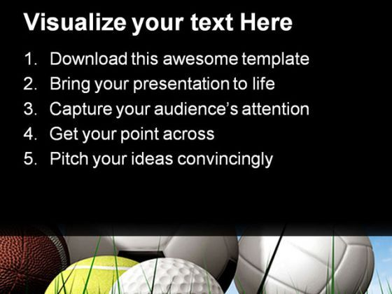 balls on the grass sports powerpoint templates and powerpoint, Powerpoint templates