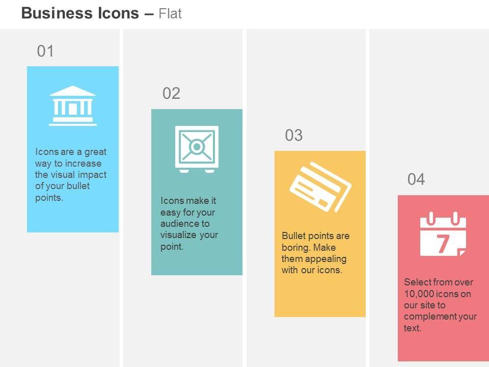bank_safe_debit_credit_card_calendar_ppt_icons_graphics_Slide01