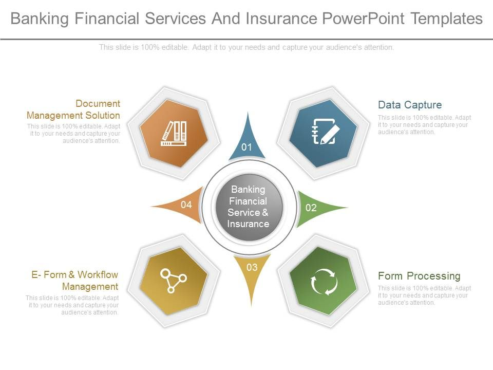 Banking Financial Services And Insurance Powerpoint Templates