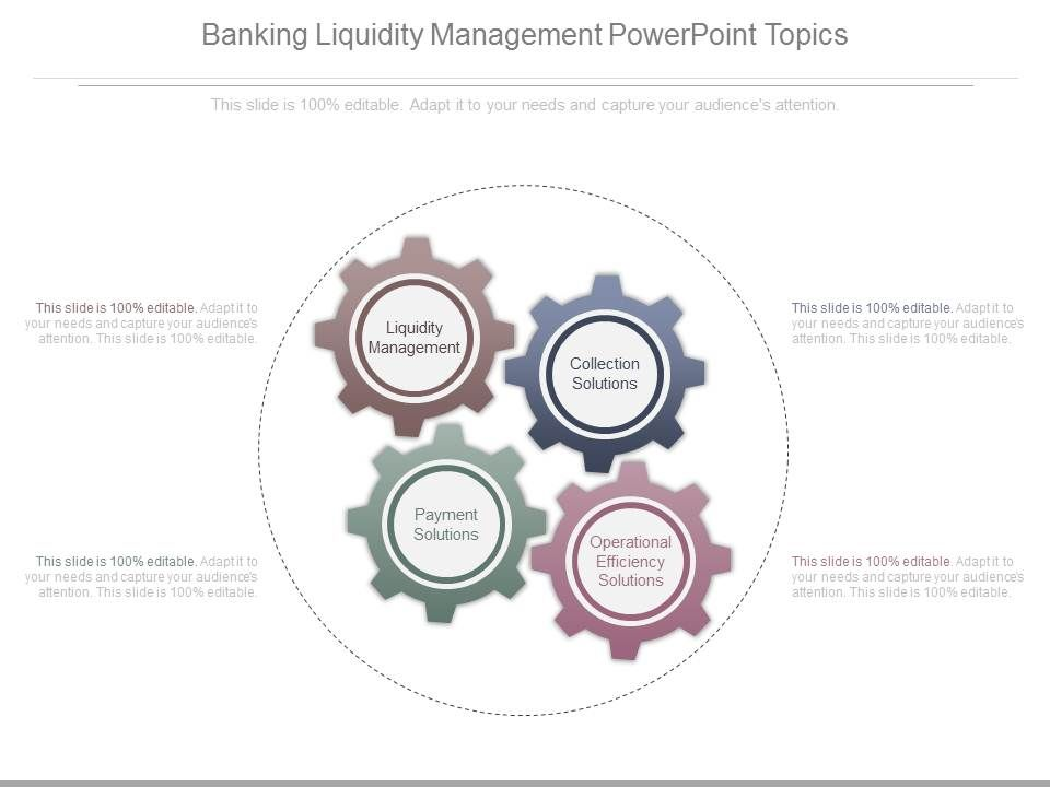 Banking Liquidity Management Powerpoint Topics | PowerPoint