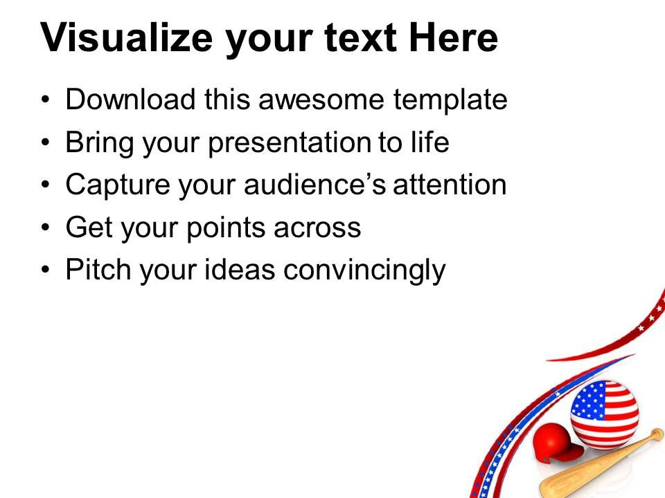 Baseball Is The National Game Of USA PowerPoint Templates PPT Themes ...